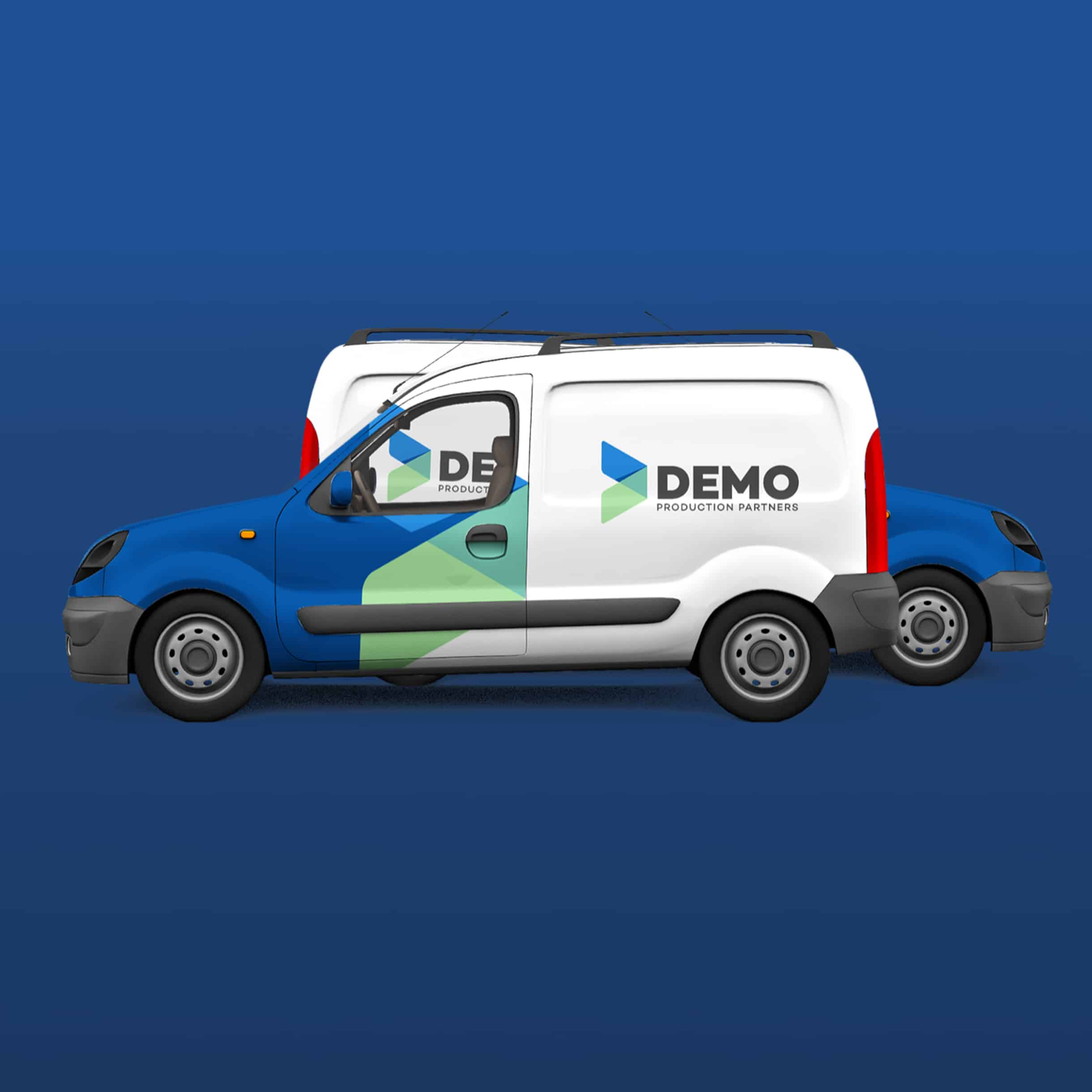Demo Productions - busjes mockup - Branding